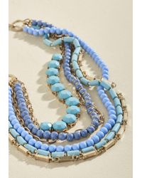 Ana Accessories Inc - Metallic Yes You Glam Necklace In Sky - Lyst
