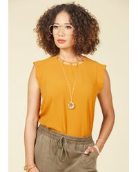 Sweet Rain - Yellow Excelling Point Top In Marigold - Lyst