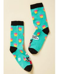 Sock It To Me - Blue Time To Purr-ty Socks - Lyst