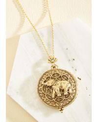 Ana Accessories Inc | Metallic Intrigue Achieved Necklace In Elephant | Lyst