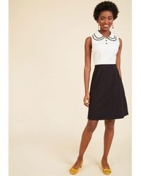 ModCloth - Black Outreach Officer A-line Dress - Lyst