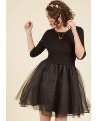 Esley | Black Soiree Sophistication A-line Dress In Noir | Lyst