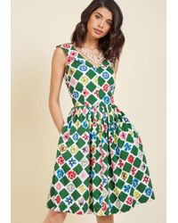 Emily and Fin   Green Vintage-inspired Vim A-line Dress   Lyst