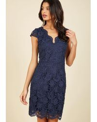 ModCloth | Blue Elegant Moments Lace Dress In Navy | Lyst