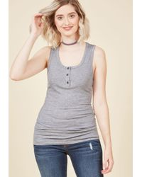 ModCloth - Gray Confidence To Create Tank Top In Grey - Lyst