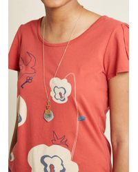 ModCloth - Gray Come A-rockin' Pendant Necklace - Lyst
