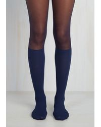 Gipsy Tights | Blue Chic In The Knees Tights | Lyst