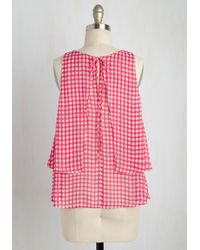 Hello Miss - Red Set The Tempo Top - Lyst
