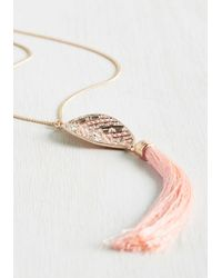 Ana Accessories Inc - Pink Tassel In The Sky Necklace - Lyst