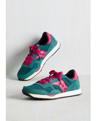 Saucony | Green Look Who's Sporty Sneaker In Teal | Lyst