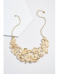 ModCloth - Metallic Leave To Chance Statement Necklace - Lyst