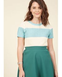 ModCloth | Blue Day, Brightened Sweater In Sky | Lyst