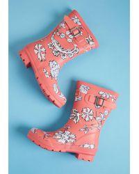 Joules Pink Just Splashing Through Rain Boot