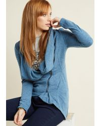 ModCloth | Airport Greeting Cardigan In Blue | Lyst
