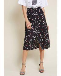 Louche - Black Start Me Up Buttoned Skirt - Lyst