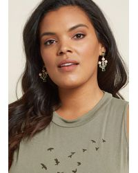 ModCloth - Multicolor Saguaro Chic Cactus Earrings - Lyst