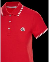 Moncler - Red Polo - Lyst