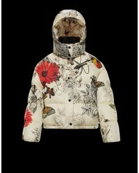 eadc928f9 Women's White Caille Floral-print Puffer Jacket W/ Removable Hood