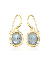 Monica Vinader - Blue Siren Wire Earrings - Lyst