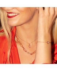 Monica Vinader Pink Siren Fine Chain Bracelet