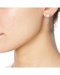 Monica Vinader - Metallic Naida Circle Stud Earrings - Lyst