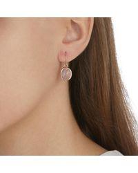 Monica Vinader Pink Siren Wire Earrings