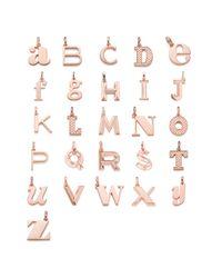 Monica Vinader Metallic Alphabet T Pendant Charm