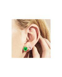 Monica Vinader Pink Siren Stud Earrings