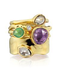Monica Vinader - Purple Siren Stacking Ring - Lyst