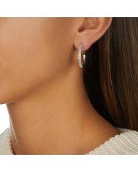 Monica Vinader Metallic Fiji Large Hoop Diamond Earrings