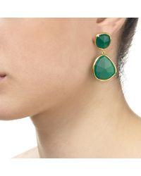 Monica Vinader Green Siren Drop Cocktail Earrings