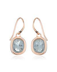 Monica Vinader Blue Siren Wire Earrings