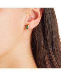 Monica Vinader - Green Baja Deco Stud Earrings - Lyst