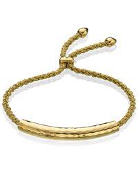 Monica Vinader Green Esencia Friendship Bracelet