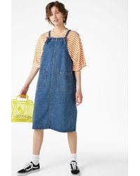 Monki Blue Denim Dress