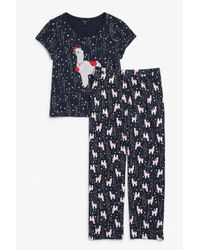Monki Blue Matching Pyjamas