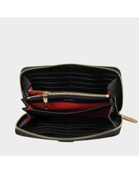 Lancel - Black Max Continental Zipped Wallet - Lyst