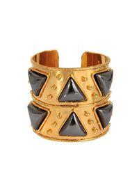 Sylvia Toledano - Metallic Triangles Cuff - Lyst