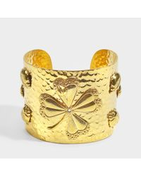 Sylvia Toledano - Metallic Lucky U Cuff In Gold 18k Gold Plated Brass - Lyst