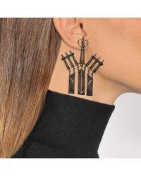 Valentino - Multicolor Loveblade Pendant Earrings - Lyst