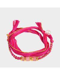 Aurelie Bidermann - Takayama Bracelet With Pink Quartz - Lyst