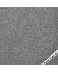 Acne Gray Canada Narrow New Scarf In Grey Melange Wool