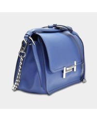Tod's Blue Double T Small Messenger Bag