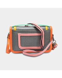 Pierre Hardy - Multicolor Alpha Crossbody Clutch Bag In Black And White Calf And Lambskin - Lyst