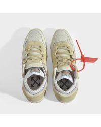 Sneakers 4.0 en Cuir Beige et Gris Off-White c/o Virgil Abloh en coloris White