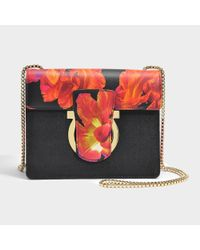 Ferragamo - Black Thalia Crossbody Bag - Lyst