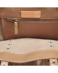Vanessa Bruno - Brown Leather And Eyelets Medium + Tote - Lyst