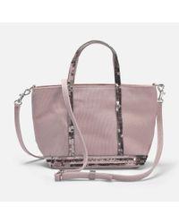 Vanessa Bruno - Multicolor Canvas And Sequins Baby Tote Bag In Powder Cotton - Lyst