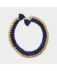 Aurelie Bidermann - Blue Do Brasil Braided Necklace - Lyst