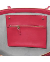 Smythson - Pink Panama East West Leather Tote - Lyst